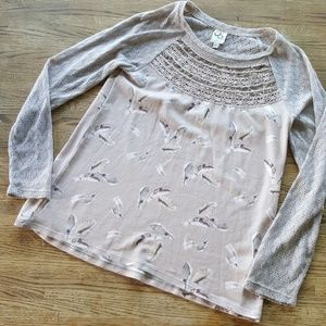 Anthropologie One September Feather Top